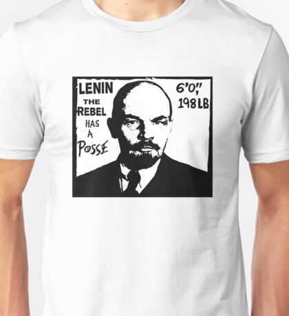 Vladimir Lenin Has A Posse - Obey Andre the Giant - Shepard Fairey communism parody Unisex T-Shirt