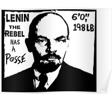 Vladimir Lenin Has A Posse - Obey Andre the Giant - Shepard Fairey communism parody Poster