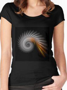 Fractal Art - Silver Spiral Women's Fitted Scoop T-Shirt