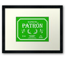 Expecto Patron Reversed Framed Print