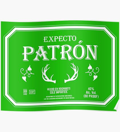 Expecto Patron Reversed Poster