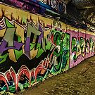 Graffiti Leake Street London by liberthine01