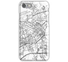 Ho Chi Minh City Map, Vietnam - Black and White iPhone Case/Skin