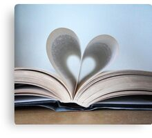 Bookish Heart Canvas Print
