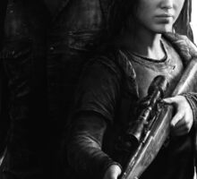 Last of Us remastered no black background Sticker