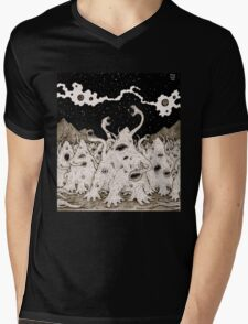 Cosmic Horror Party Mens V-Neck T-Shirt