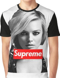 Margot Robbie Supreme B&W  Graphic T-Shirt