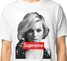 Margot Robbie Supreme B&W  Classic T-Shirt