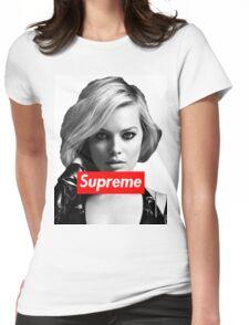Margot Robbie Supreme B&W  Womens Fitted T-Shirt
