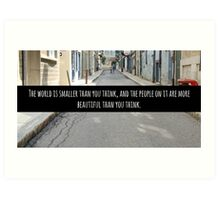 Small World Street Quote Art Print