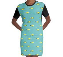 Oh Fish! Yellow Fish Princess Cosplay Pattern Graphic T-Shirt Dress