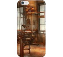 Machinist - A lone grinder  iPhone Case/Skin