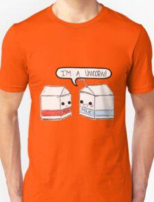 Milk Carton Unicorns Unisex T-Shirt