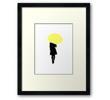 Yellow Umbrella - HIMYM Framed Print