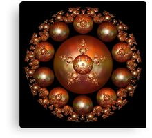 Fractal Art - Penta Bubble Star Canvas Print