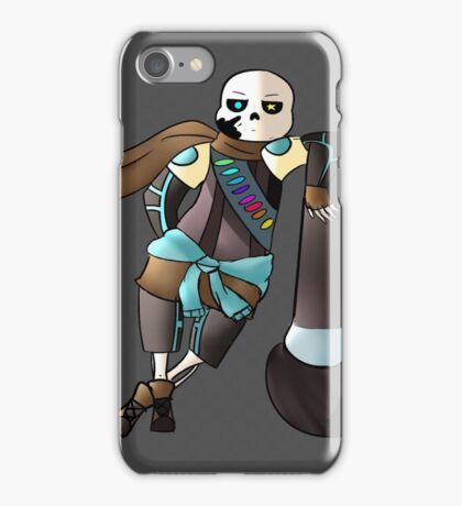 "Ink Sans ""Why are you here?"" iPhone Case/Skin"