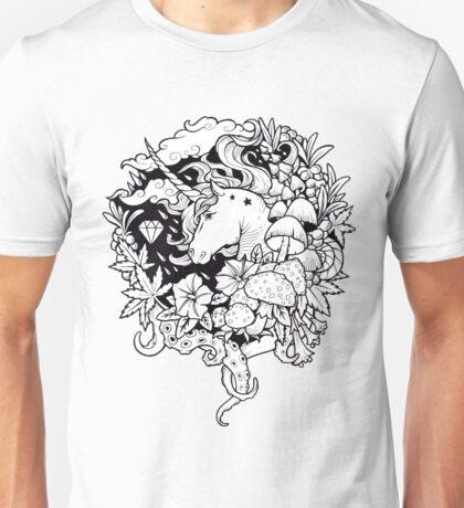 - Magical Unicorn BW - Unisex T-Shirt