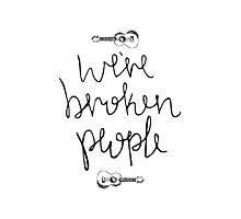 We're Broken People Ukulele  Photographic Print