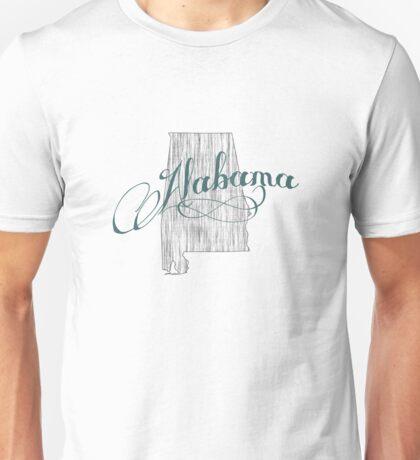 Alabama State Typography Unisex T-Shirt