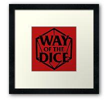Way of the Dice Emblem Framed Print