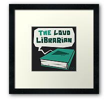 The Loud Librarian Logo Framed Print