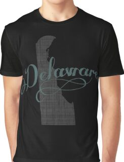 Delaware State Typography Graphic T-Shirt
