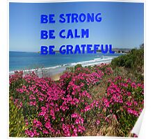 be strong , be calm , be grateful Poster