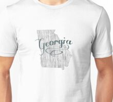 Georgia State Typography Unisex T-Shirt
