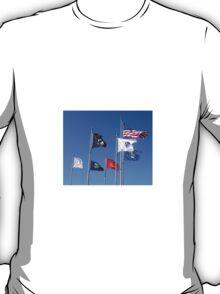 U.S. Flag, POW/MIA Flag, Armed Forces Flags T-Shirt