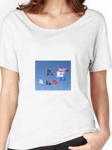 U.S. Flag, POW/MIA Flag, Armed Forces Flags Women's Relaxed Fit T-Shirt