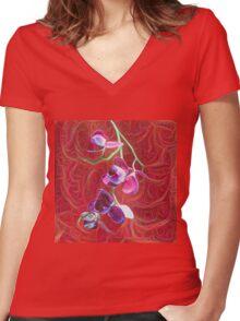Phalaenopsis B Women's Fitted V-Neck T-Shirt