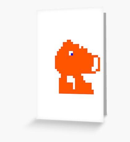 Q-Bert Greeting Card
