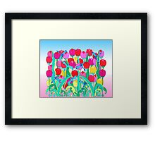 Dragon Flies and Tulips Framed Print