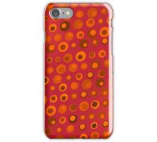 Red Orange and Brown Dots Texture iPhone Case/Skin