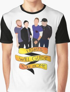 Lights Will Guide You Home Banner Graphic T-Shirt