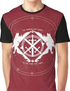 Strength of the Wolf [White / Red] Graphic T-Shirt