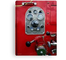Gauges on Vintage Fire Truck  Canvas Print