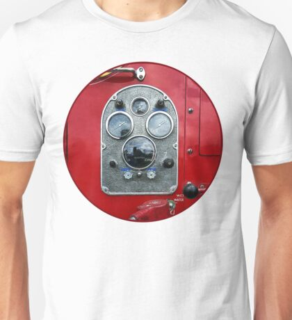 Gauges on Vintage Fire Truck  Unisex T-Shirt
