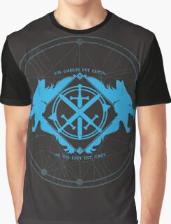 Strength of the Wolf [Cyan / Black] Graphic T-Shirt