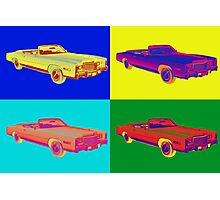 1975 Cadillac El Dorado Convertible Pop Art Photographic Print