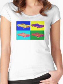 1975 Cadillac El Dorado Convertible Pop Art Women's Fitted Scoop T-Shirt
