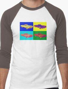 1975 Cadillac El Dorado Convertible Pop Art Men's Baseball ¾ T-Shirt