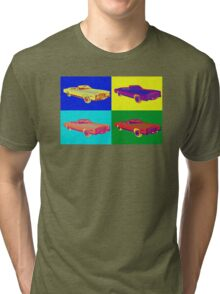 1975 Cadillac El Dorado Convertible Pop Art Tri-blend T-Shirt