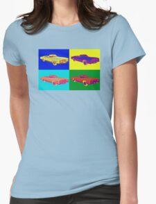 1975 Cadillac El Dorado Convertible Pop Art Womens Fitted T-Shirt
