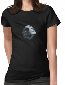 Death Star Pattern Womens Fitted T-Shirt
