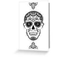 All Hallows Skull Greeting Card
