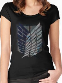 Scouting Legion Attack on Titan Women's Fitted Scoop T-Shirt