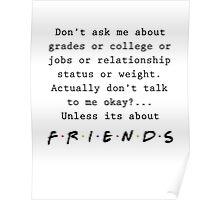 Friends Shirt f.r.i.e.n.d.s Poster