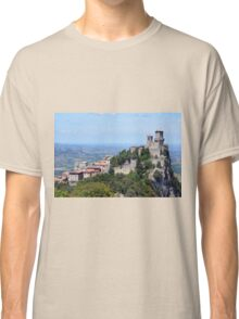 San Marino landscape with tower. Classic T-Shirt
