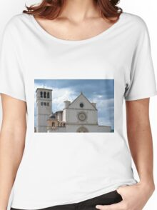 White church from Assisi. Women's Relaxed Fit T-Shirt